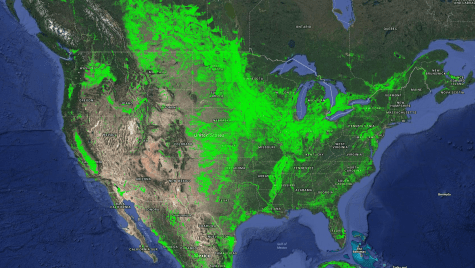 The broad swaths of agricultural activity shown in green here reflect weather, climate, geography, soil type and other factors, and are best seen from a polar-orbiting satellite like Landsat.