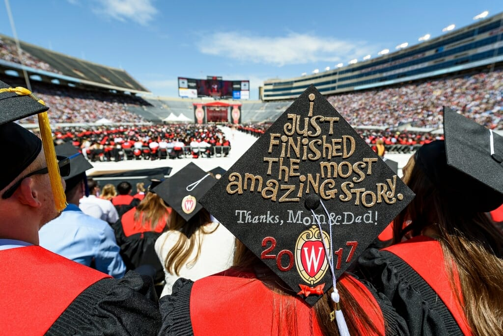 Photo: Mortarboard says