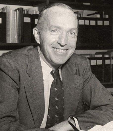 Photo: Joseph Hickey sitting at desk