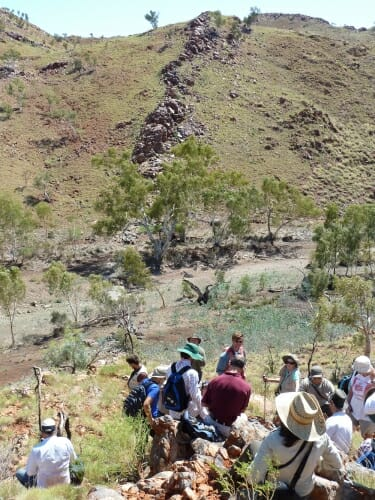 Photo: People standing at Apex Chert