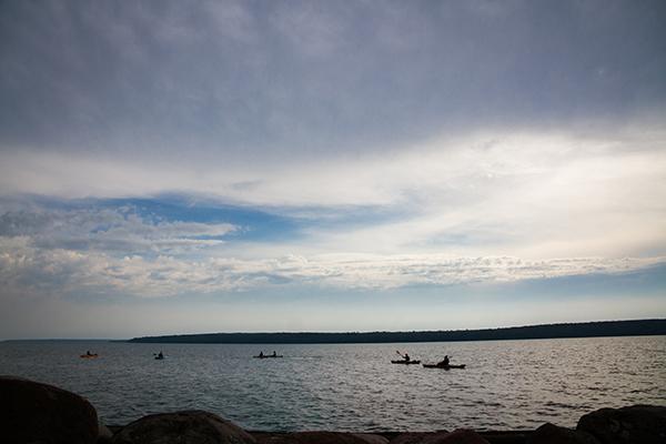 Photo: Kayakers on Lake Superior