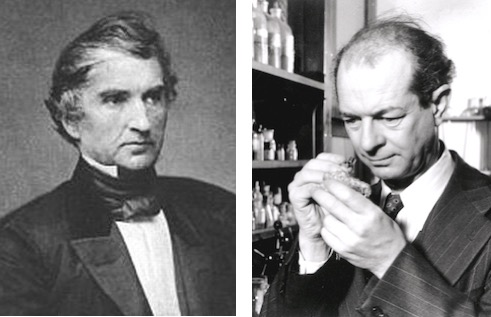 Photo: Justus von Liebig and Linus Pauling