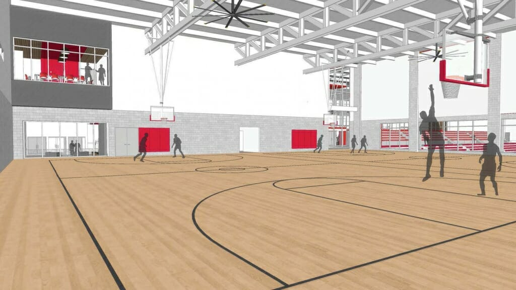 Image: Architect's rendering of basketball court