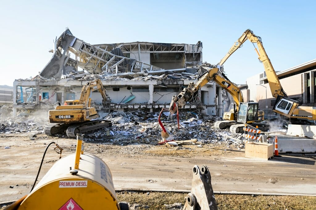 Many of the materials from the SERF's demolition will be recycled for use in other buildings.