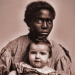 Photo: Image of female slave and child, from book cover