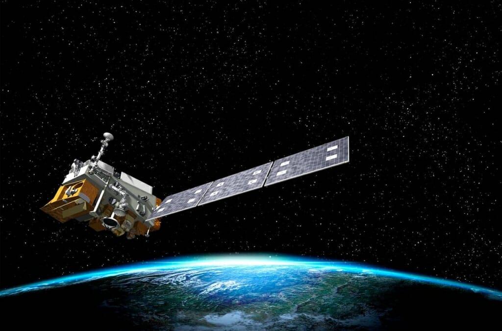 Photo: Artist's rendering of satellite orbiting Earth