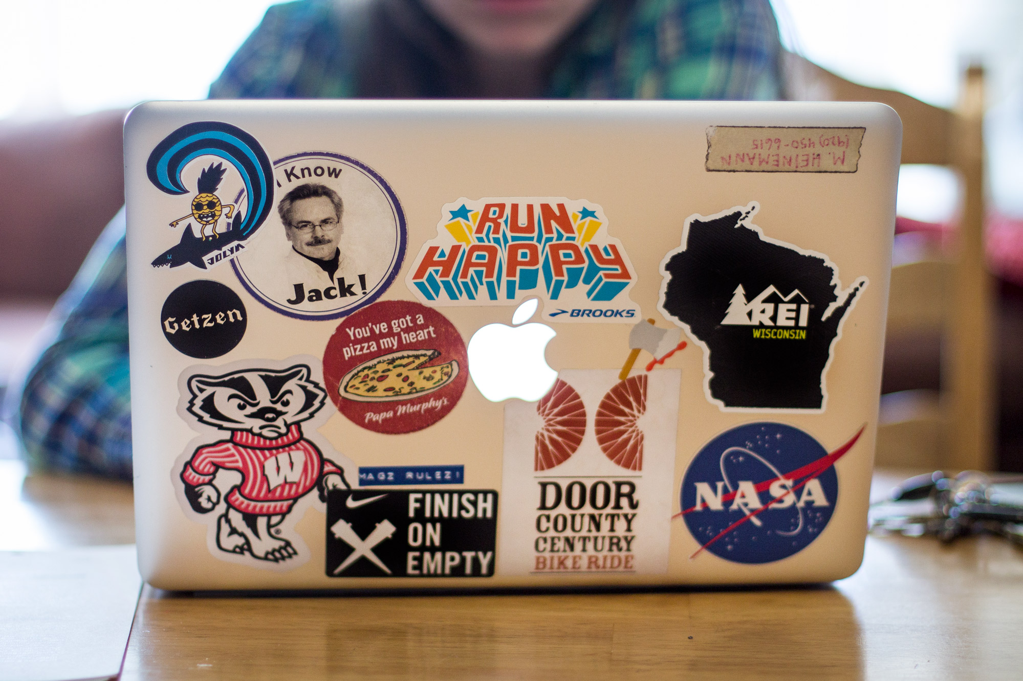 Senior maggie heinemanns laptop stickers emily hamer