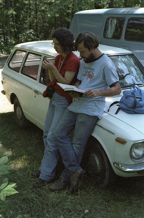 Photo: Steve and Susan Carpenter on a field trip with the UW–Madison Department of Botany to Pine Lake near Eau Claire, Wisconsin, circa 1978.