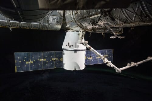 Photo: Space ship docking with space station