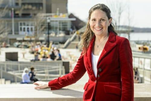 Photo: Christine Whelan outside Union Terrace