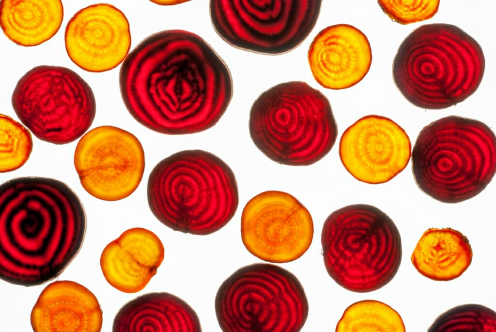 Photo: different colored beets