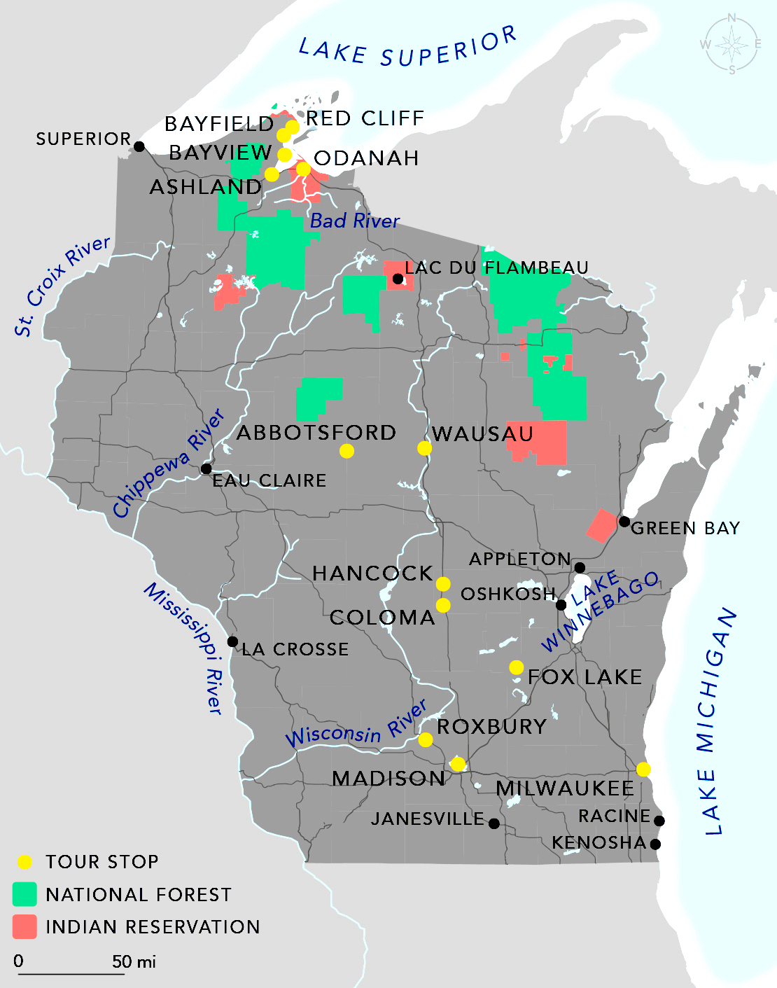 Graphic: Map of seminar sites