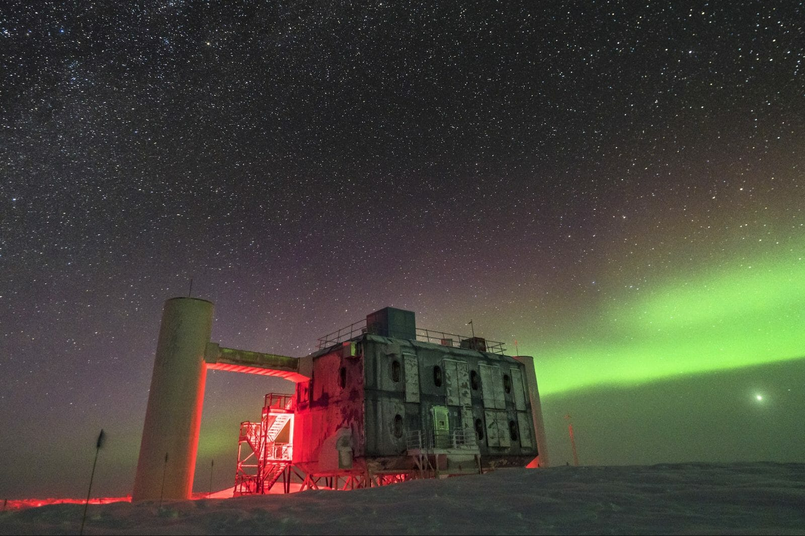 IceCube lab at the South Pole