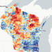 An image of communities in Wisconsin from the neighborhood atlas
