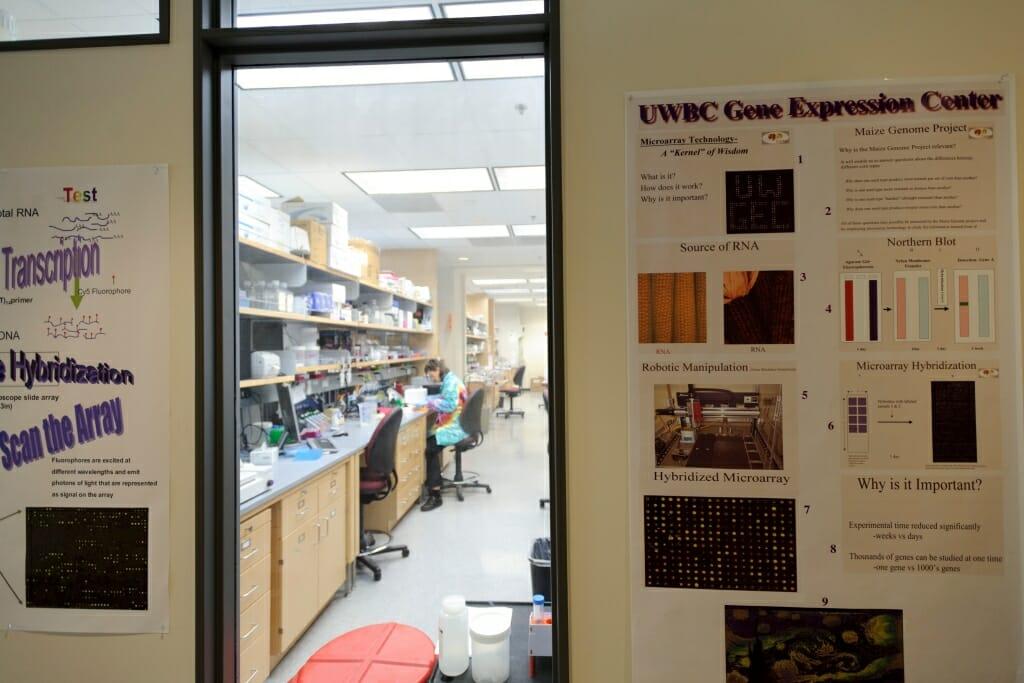Photo: Genetics lab seen through doorway