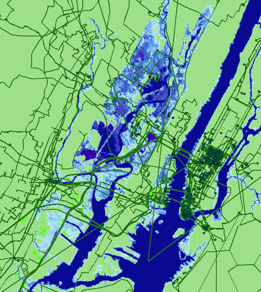Study Suggests Buried Internet Infrastructure At Risk As Sea Levels Rise - Level-3-us-fiber-map
