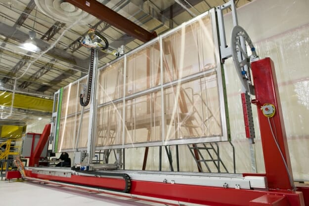 Photo: Large neutrino-detecting panels in Physical Science Laboratory