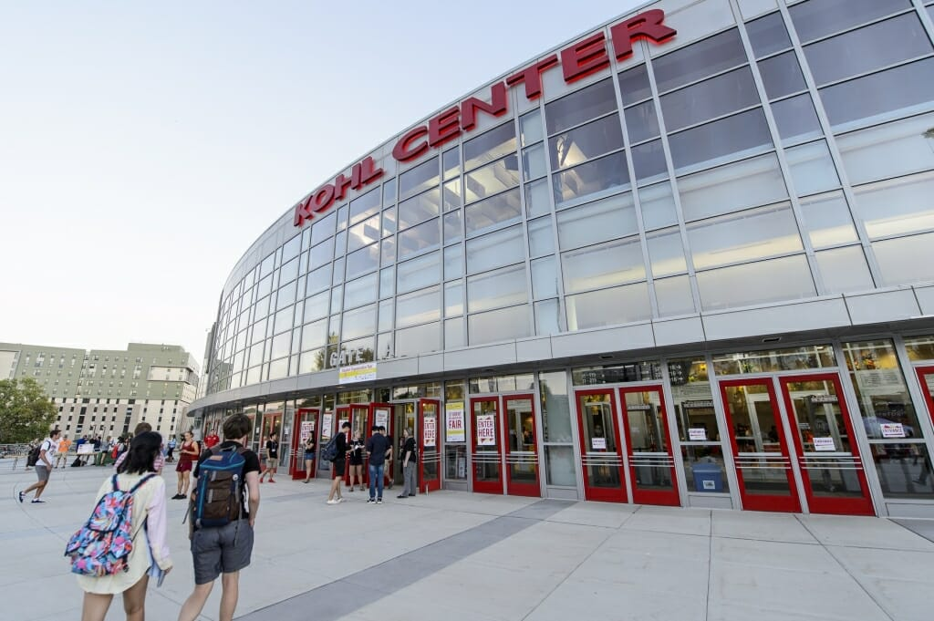 Students make their way into the Kohl Center for the Student Organization Fair, which runs Sept. 12 and 13.