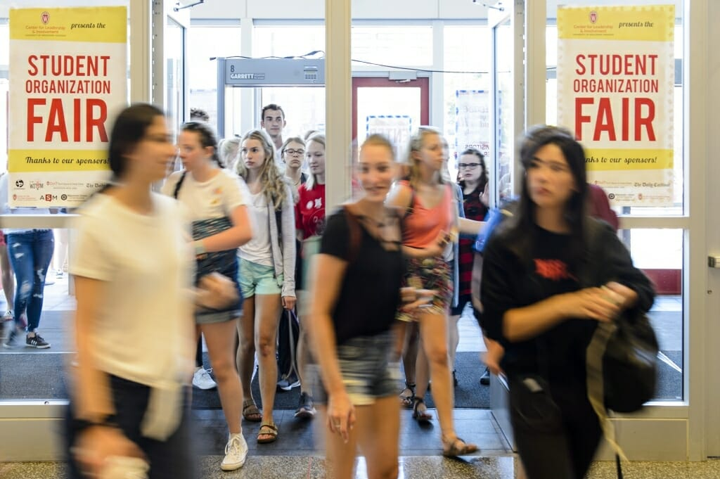 The two-day Student Organization Fair is an opportunity for students to learn about special-interest groups, activities and services offered by more than 400 represented student organizations on campus.