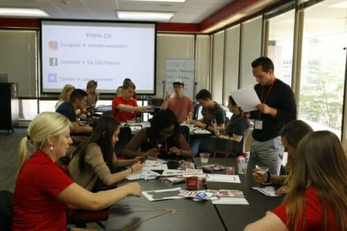 Students work on projects at the brand-new Transfer Engagement Center.