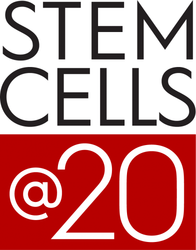 "Graphic: The words ""STEM CELLS @20"""