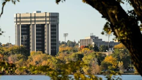 Photo: WARF building as seen from across lake at Picnic Point