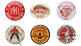 Photo of vintage Homecoming buttons