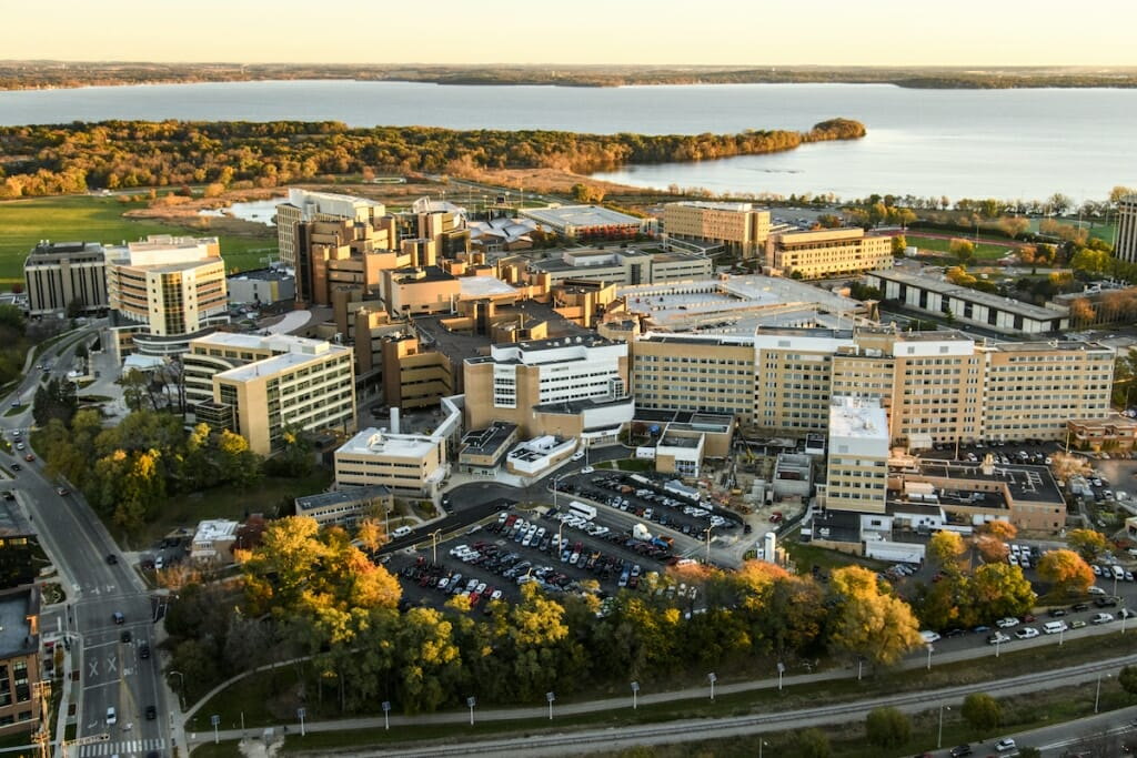 Photo: Aerial view of UW and VA hospitals