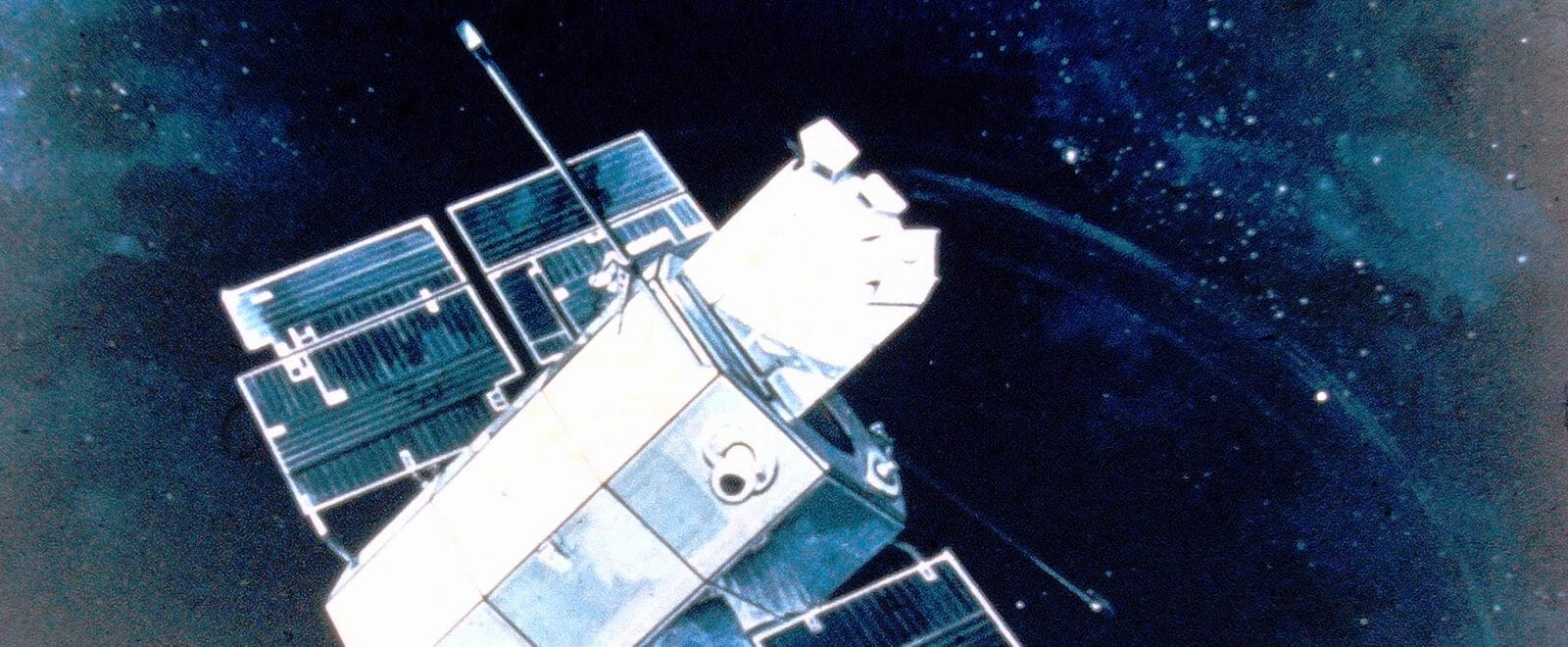 Artist's rendering of the OAO-2 in orbit.
