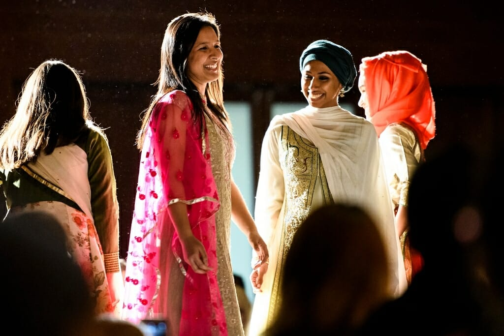 Photo: Students in fashion show