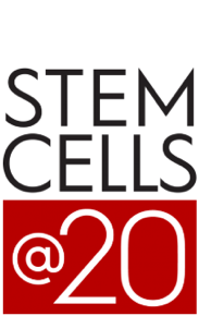 "Graphic: The words ""STEM CELLS @ 20"""