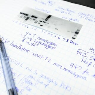 A stem cell researcher's notebook.