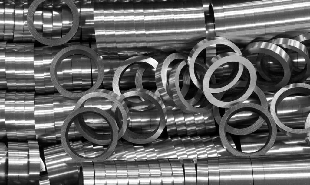 Photo: Pile of metal rings