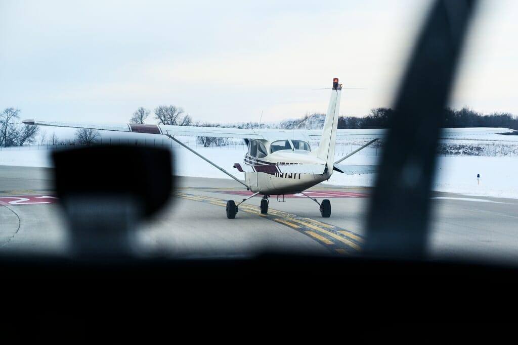 Photo: Plane on runway