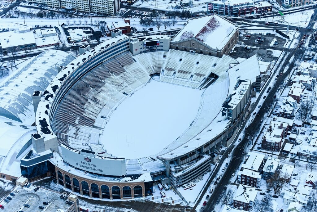 Photo: Aerial view of Camp Randall