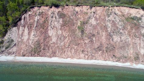 Photo: A Lake Michigan bluff