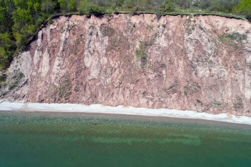 Photo: A Lake Michigan bluff