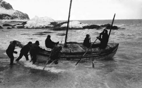 Photo: A boat in the Antarctic
