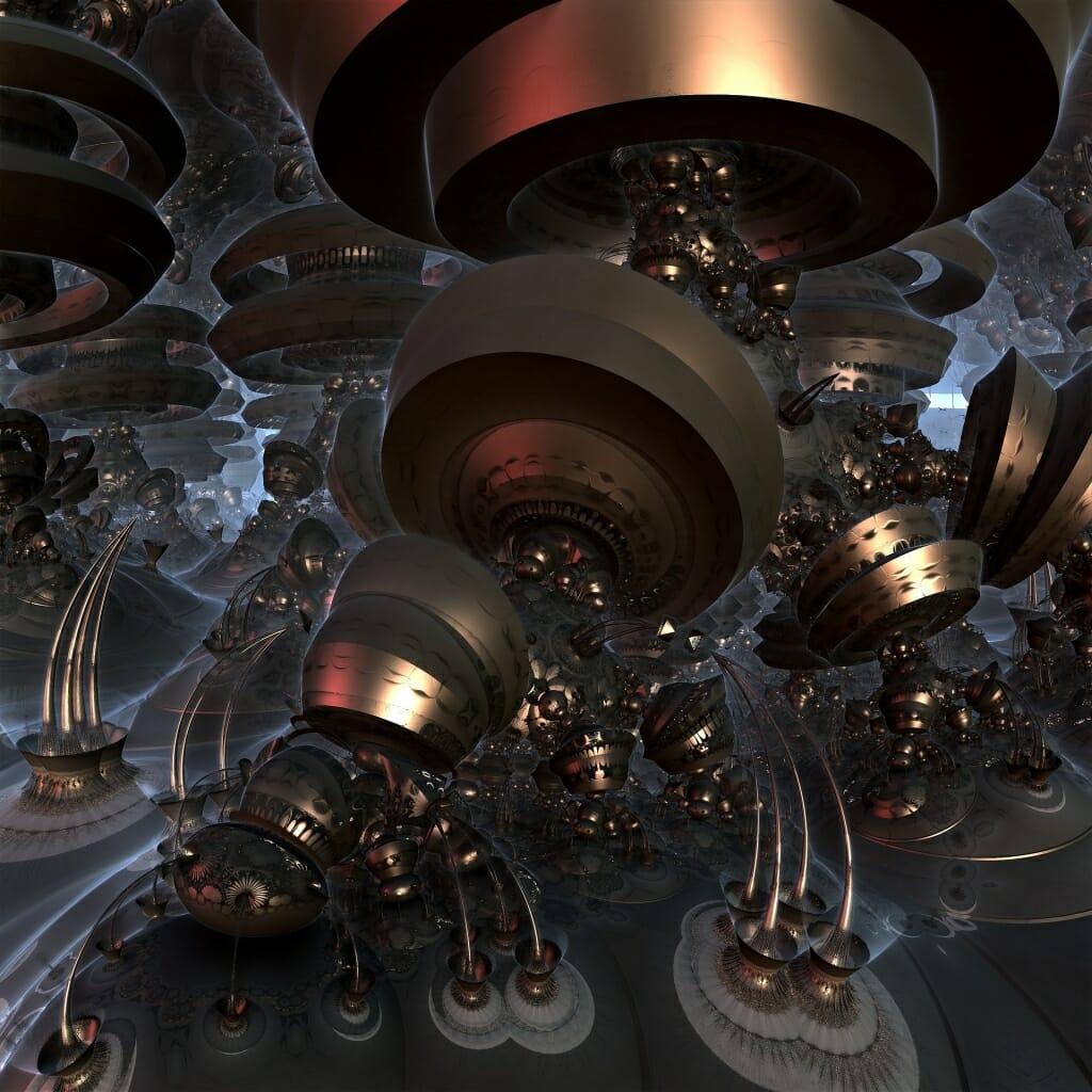 Photo: Closeup of a quantum computer