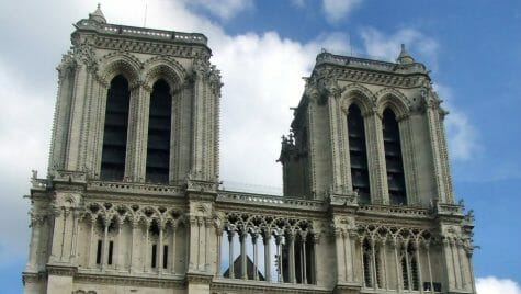 Notre Dame Cathedral in Paris, before the fire.