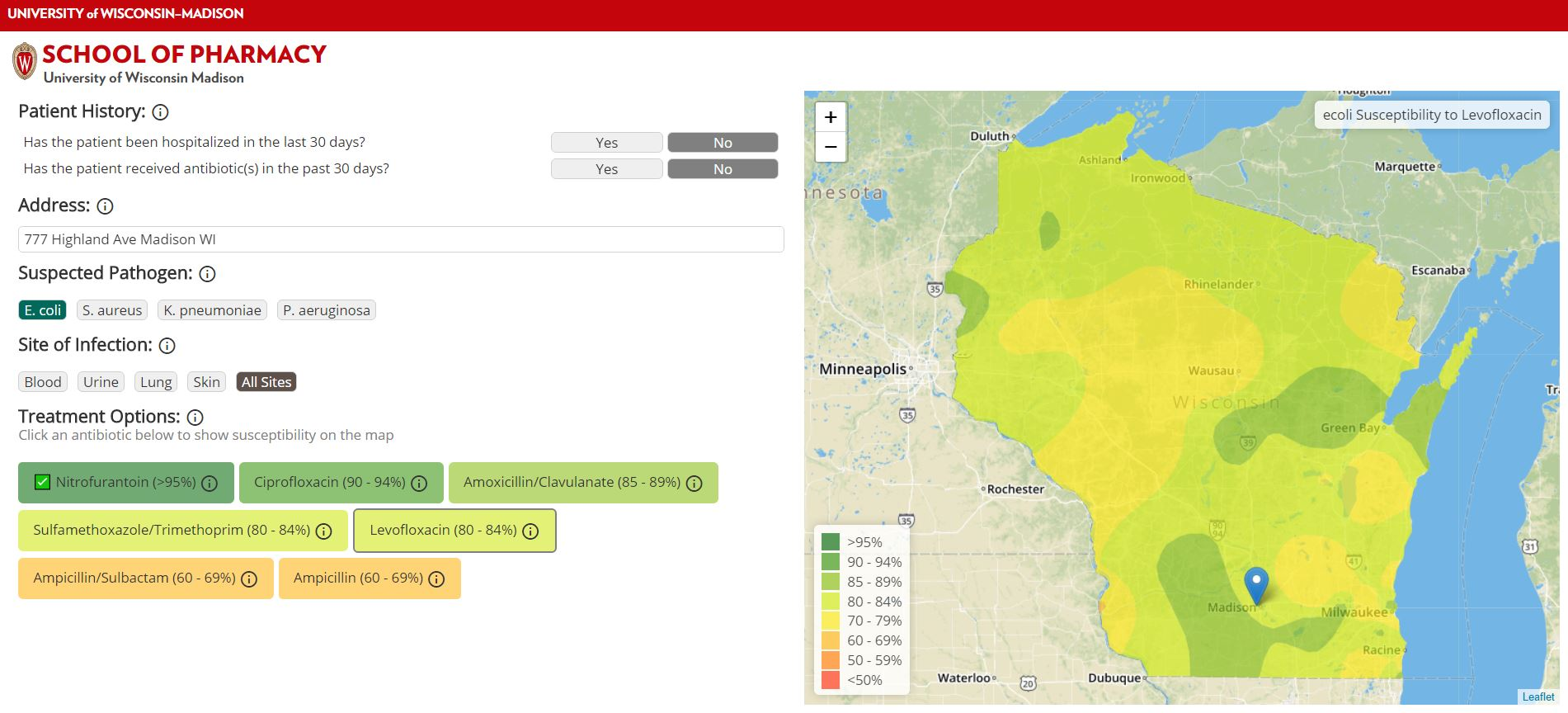Antibiotic resistance across Wisconsin revealed by new maps