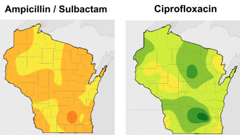 Graphic: 2 Wisconsin maps highlighted in different colors