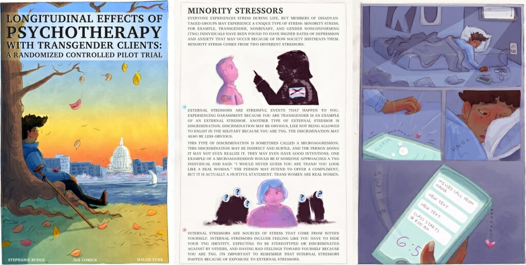Graphic: Pages from psychology comic book