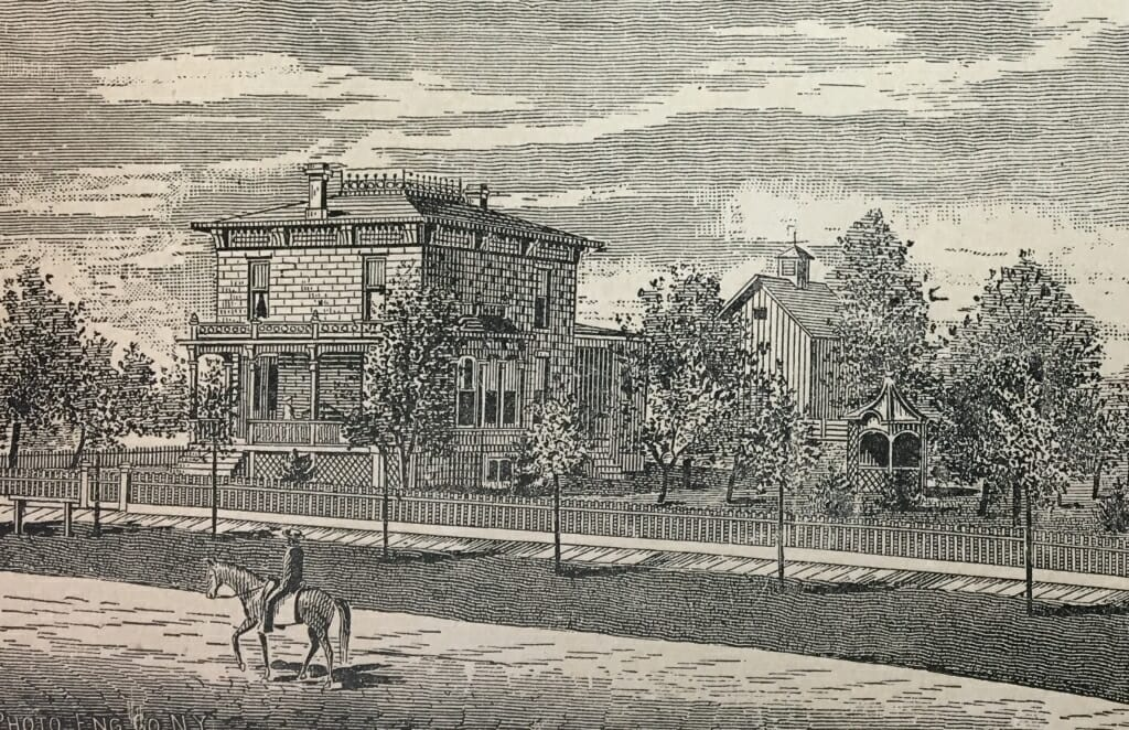 Illustration: Engraving of house