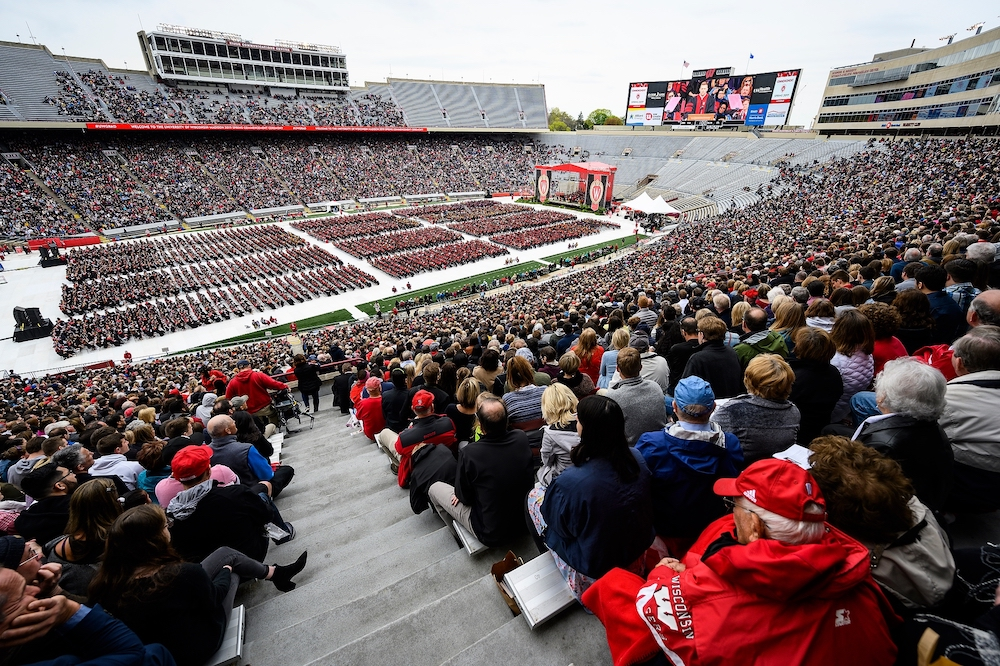 A crowd of 45,300 turned out for Saturday's ceremony.