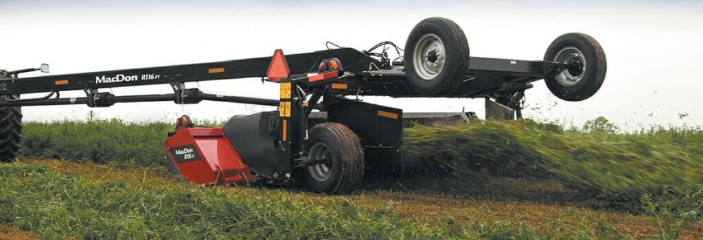Photo: A mower on a trailer.