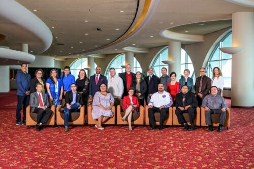 Photo of Tribal and university leaders at Monona Terrace.