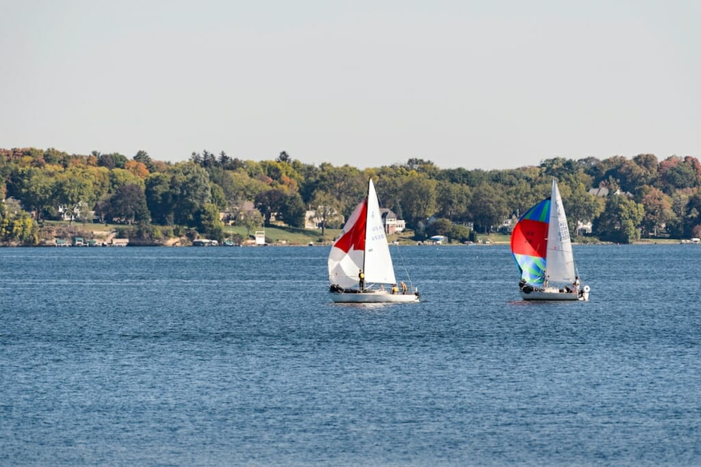 Photo: Sailboats on Lake Mendota on sunny day