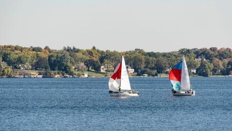 Photo: Sailboats on Lake Mendota on sunny day