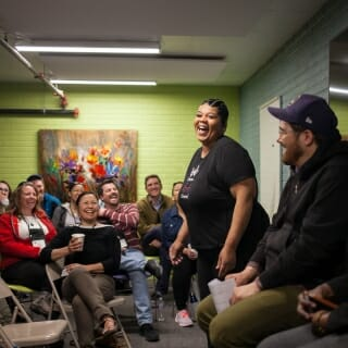 13 May, 2019.  Adija Greer-Smith, owner of Confectionately Yours, shares the origin story of her successful bakery located in the Sherman Phoenix, a vibrant hub for entrepreneurs of color located in Milwaukee's Sherman Park neighborhood. (Photo by Catherine Reiland/UW-Madison)